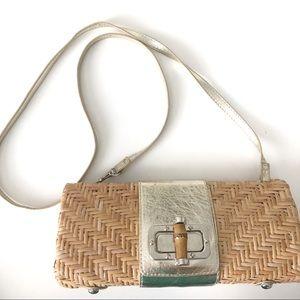 Vintage Rattan Woven Crossbody Purse